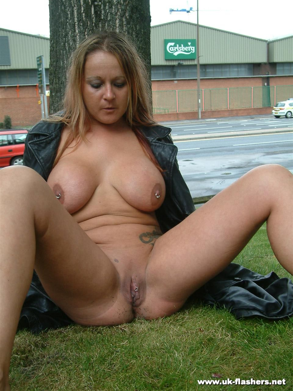 Wife exhibitionist naked public